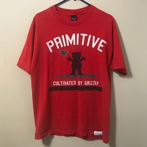 Red primitive/ Diamond supply Co. shirt